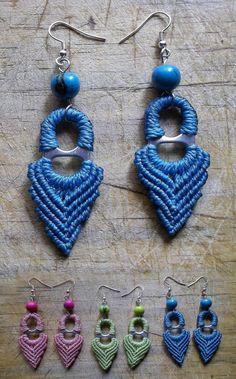 Øredobber Ramen, Crochet Earrings, Blinds, Rings, Chrochet, Frame, Windows