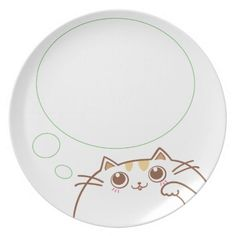 Many people love cats. In this product, you can share the experience with people who have cats and love cats too! The design concept of this is different emotions with a fat cat on the plates. In this collection, the cat has a happy and lovely face because it is very hungry and try to let people feed it. You can imagine that putting food on its thinking bubble will be really funny. This is the collection with no background. If you want to choose your own background color, please look at ...