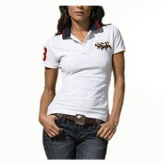 b270844026c58 Ralph Lauren Womens Durable Cotton Short-sleeved Polo White Polo Ralph  Lauren