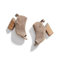 Stitch Fix Spring Must-Haves: Perforated Peep-Toe Booties