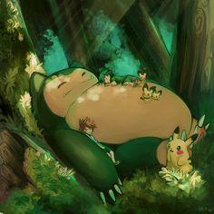 ✭ Totoro   Pokemon by milkteamaid