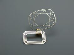 diamond brooch by Krisztian Adam