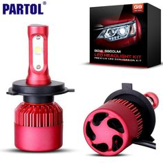 Partol H4 H7 H11 9005 9006 H13 자동차 LED 헤드 라이트 전구 80 와트 9600LM 크리 XHP50 칩 한 주도 헤드 램프 안개 램프 6500 천개 12 볼트