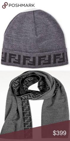 8150d3556a1 New Fendi hat and scarf set - gray New Fendi hat and scarf set - gray