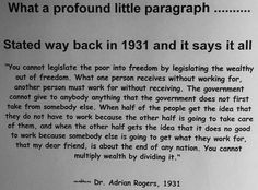 1931 Dr. Adrian Rogers quote applicable today!!!