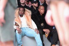 Pin for Later: Die Promis reissen sich um Hugo Boss Diddy und Jay Z Gesehen bei: Kanye West x Adidas