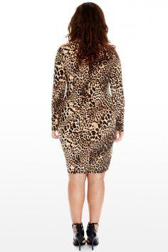 Plus Size Jolie Leopard Print Zip Dress | Fashion To Figure $44.90