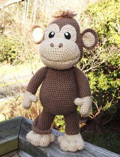 Gran bebé mono Amigurumi patrón con bono patrón del sombrero de Santa, sólo PDF.