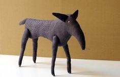 The gray wild wolf. $40.00, via Etsy.