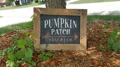Pumpkin Patch sign fall sign harvest sign by HeartToHeartSigns