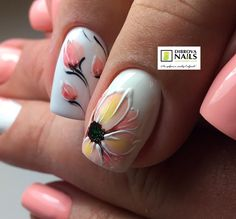 30 ideas which nail polish to choose - My Nails Trendy Nails, Cute Nails, My Nails, Acrylic Nail Shapes, Acrylic Nails, Flower Nail Designs, Nail Art Designs, Nail Manicure, Nail Polish