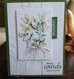Leaf Cards, Hand Made Greeting Cards, Scrapbook Cards, Scrapbooking, Christmas Cards To Make, Stamping Up Cards, Get Well Cards, Card Tutorials, Sympathy Cards