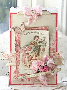 Paper bag with Vintage Garden by Anne Kristine for Pion Design.