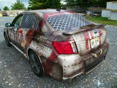 Zombie Escape Vehicle Wrap for Run For Your Lives 5K Obstacle Course http://www.vehiclewrapping.com