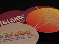 Islands custom coasters