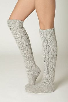 Thermic Bliss Socks from Anthropologie. Sexy Socks, Cute Socks, Frilly Socks, Comfy Socks, Fluffy Socks, Ugg Slippers, Boot Socks, Tall Socks, Pullover