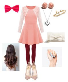 """""""valentine date look"""" by nianaap ❤ liked on Polyvore featuring Semilla, RED Valentino and Pandora"""