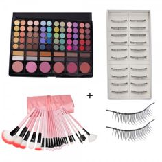 78 Color Eyeshadow Palette + 22PCS Cosmetic Makeup Brush Set Pink + 10 Pairs Thick Long False Eyelashe. This is 78 Color Professional Eyeshadow Palette. Ideal for make-up artists and anyone who wants to experiment with different color without spending a fortune on separate powders. It is a must have for professional make-up artists or beauty queens who love to experiment with their look.
