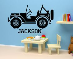 Personalized Name Decal boy's Nursery Room kid's by ALLSTICKERS