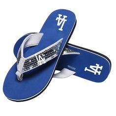 3d51fa3ea8f Los Angeles Dodgers MLB Womens Sequin Flip Flops