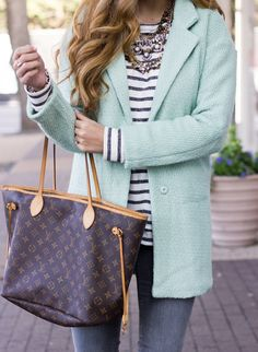 pastel coat outfit