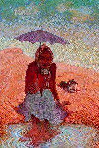 "Navajo artist Shonto Begay's ""Respite II."""