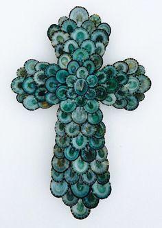 Croix coquillage Croix coquille de mer Cross coquille de