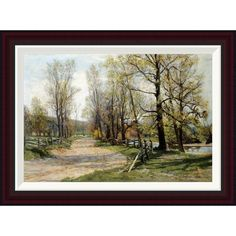 Found it at Wayfair - The Country Lane by Hugh Bolton Jones Framed Painting Print