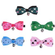 Beautyflier Pack of 5 Pet Neck Collar Adjustable Dog Cat Bowtie with Bell Charm Puppy Costume Accessories *** Click image to examine even more details. (This is an affiliate link).