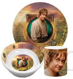 Der Hobbit Frühstücksset (Tasse, Teller, Schüssel) Motiv Bilbo Beutlin - Auktion