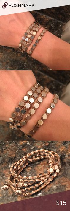 Brown/silver wrap bracelet Never worn! Easy to put on. Versatile— can be worn with something casual or dressed up! Jewelry Bracelets