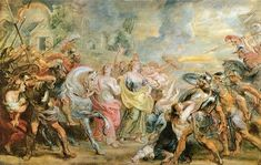 Truce between Romans and Sabinians by @artistrubens #baroque
