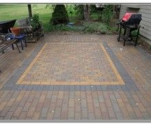 Brick Pavers Patio Design