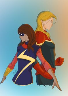 Ms. Marvel & Captain Marvel. Two of the best characters to come out of Marvel Now. ➝ jakebartok
