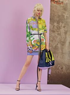 Versace Resort 2018 Fashion Show - I think Versace made this whole collection for Taylor Swift. BUT I enjoy this shirt dress.