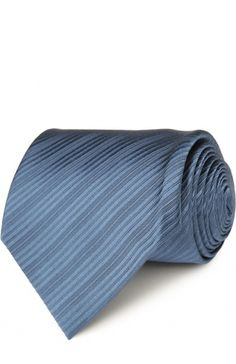 Шелковый фактурный галстук Tom Ford, синего цвета, арт. 7TF42XTF в ЦУМ | Фото №1