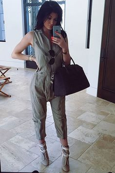 Kylie posted this selfie to Instagram and tagged @kendallandkylie, the Instagram account for the sisters' new Topshop line. Hopefully this chic jumpsuit is part of the collection!   - Seventeen.com
