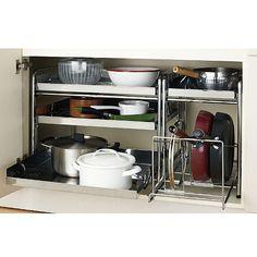 セシールのシンク下スライドラックシリーズ 9,709円~11,329円の販売ページです。初めてのご注文は全商品送料無料ほか、ポイントサービスや豊富なお支払い方法でお手軽・安心なショッピングをお楽しみいただけます。シンク下で鍋やフライパンをひとまとめ! Kitchen Cart, Shoe Rack, Organization, Interior Design, Home Decor, Getting Organized, Nest Design, Organisation, Decoration Home
