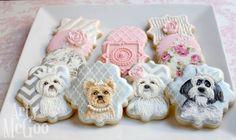 Super cute puppy cookies <3