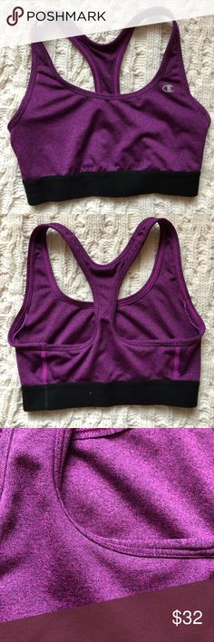 Clothing, Shoes & Accessories Enthusiastic Moving Comfort Juno Sports Running Bra Euc 36e Magenta Blue Special Buy