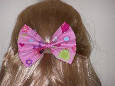 Fairy Princess Large Fabric Hair Bow Fabric Hair by HairBowAplenty