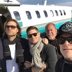 @penikettamoh: Look at these handsome lads! #jensenackles #jaredpadalecki #spnfandom #spnfandom
