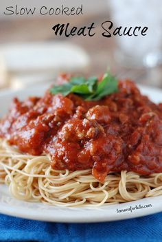 Easy Slow Cooker Meat Sauce