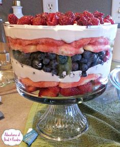 4th of July Inspired Dairy Free Berry Trifle - Simply {Darr}ling