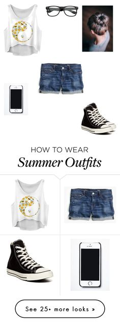 """Hot Summer Day Outfit"" by colleenm-i on Polyvore featuring moda, J.Crew, Converse e Free People"