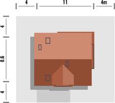 Projekt małego domu nowoczesego do 100m2 - Murano S. | Quattro Domy 1, Studio, Houses, Study