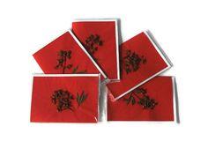 Pressed flower cards   Australian Christmas Bush by Jillsgallery, $16.00