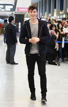 FEBRUARY 25: Shawn Mendes is seen upon arrival at the Narita International Airport in Narita, Japan. (MQ)