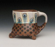 dotted pattern two tone mug  https://www.etsy.com/listing/107282815/dotted-pattern-two-tone-mug#