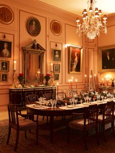 Timothy Corrigan's Restored French Chateau du Grand-Luc Can Be… Decor, Interior Design Photos, Room Interior Design, Dining Room Interiors, Elegant Dining, House Interior, Interior Design Dining Room, Elegant Dining Room, Dining Room Table